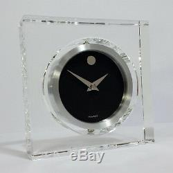 Movado MCL000217M Rotating Crystal Clock & Photo Frame. A Brand-new, Unused