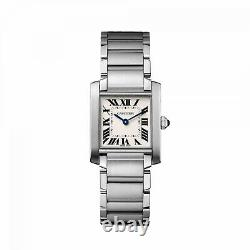 NEW Cartier Tank Francaise Medium Size Stainless Steel Quartz Watch ref WSTA0005