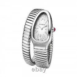 New Bulgari Serpenti Tubogas Steel Quartz 35 mm Watch 101817 SP35C6SS. 1T