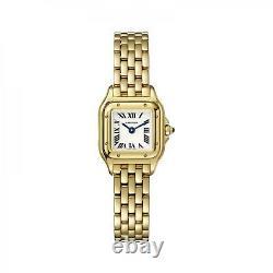 New Cartier Panthere 18K Yellow Gold Quartz White Watch WGPN0016