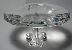 New Daniel Swarovski Crystal Euclid Caviar Bowl #168001 Brand Nib Free Shipping