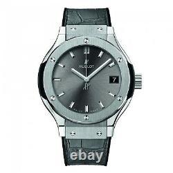 New Hublot Classic Fusion Ladies Titanium Quartz 33 mm Grey Watch 581. NX. 7071. LR
