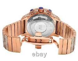 New Mens Jewelry Unlimited Rose Gold Simulated Hip Hop Diamond Watch 48MM BR-04