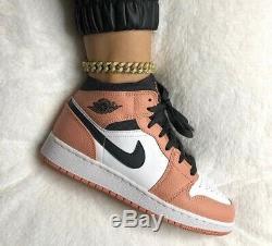 Nike Air Jordan 1 Mid Quartz Pink 13.5 UK (1Y) Brand New Authentic