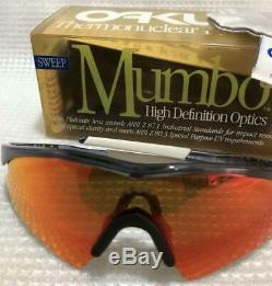 OAKLEY Mumbo Sweep M Frame Crystal Black Lens Positive Red Iridium Brand New