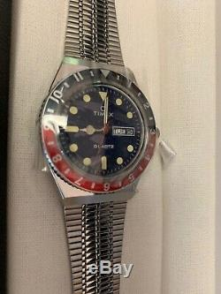 Q Timex Reissue 1979 Stainless Steel Watch Pepsi Brand New In Box Timex Q