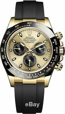Rolex Cosmograph Daytona Yellow Gold Ceramic Oysterflex 116518LN BRAND NEW