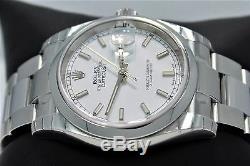 Rolex Datejust 116200 36mm Oyster White Stick Dial Date Watch BRAND NEW