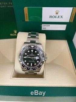 Rolex GMT Master II Black Oyster Bracelet Steel Men's Watch 116710LN Brand New