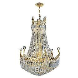 SALE US BRAND French Empire 18 Light Gold Finish Crystal Chandelier 24X32 LARGE
