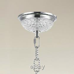 SALE USA BRAND French Empire 12 Light CHROME Finish Crystal Chandelier 20Wx26H