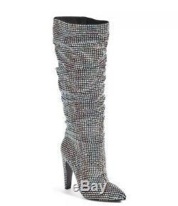 STEVE MADDEN BRAND NEW Rhinestone Crushing Crystal Slouch Boots. NIB. Size 8