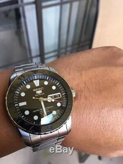 Seiko Snzf17 Urchin With Mods Automatic Watch Brand New Sapphire Crystal Seiko5