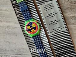 Swatch Originals Grand Prix 37mm SCJ101 NOS Circa 1992 RARE BRAND NEW SALE