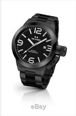 TW STEEL TWCB211 Black Dial 45mm Quartz PVD Bracelet BRAND NEW