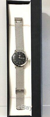 Timex Marlin 40mm Automatic Mesh Silver Black Brand NEW In Original BOX