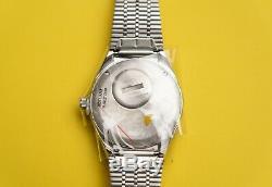 Timex Q Reissue 38mm Pepsi Bezel Stainless Steel Quartz Watch Brand New