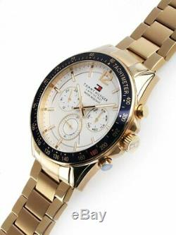 Tommy Hilfiger Men's Gold Watch brand new with tags in box 1791121