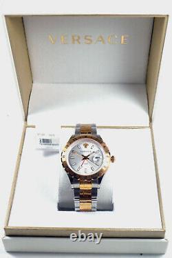 Versace Men's Watch V11030015 Gmt Swiss Made Brand Watch Wristwatch New