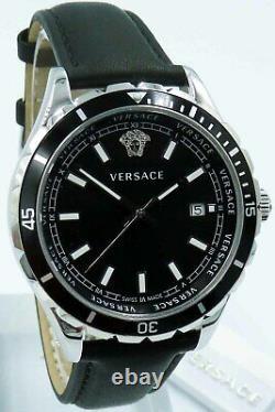 Versace Men's Watch VE3A00120 Hellenyium Leather Swiss Made Brand Watch New