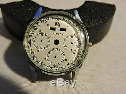 Vintage Leonidas Valjoux 72c Authentic Case, Dial And Brand New Acrylic Crystal