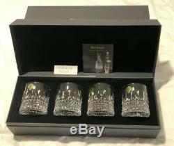 Waterford Lismore Diamond Straight Whiskey Tumbler Set of 4 Brand NEW In BOX