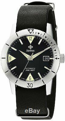 Zodiac Men's'Super Sea Wolf 53 Skin' Swiss Automatic ZO9203 Brand New